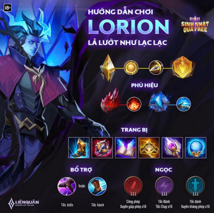 Cáh chơi Lorion mùa 16