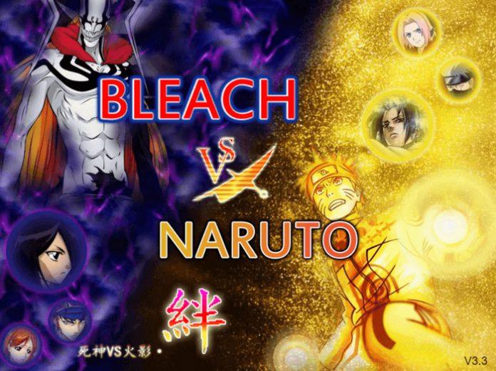 Giao diện khi vào game Naruto vs Bleach 3.3