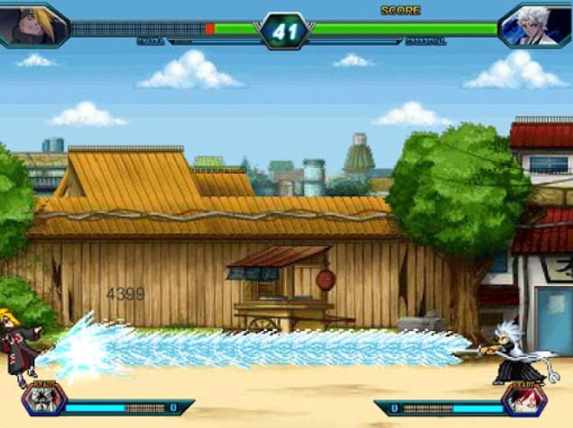 Giao diện trò chơi Naruto Bleach 3.3