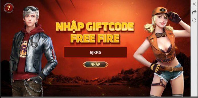 Nhập code Free Fire vào ô này