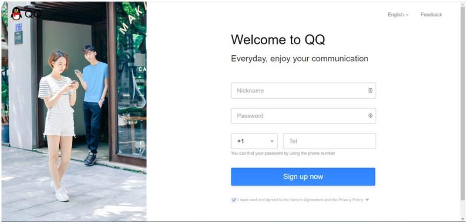 Nhập thông tin cần tạo tài khoản QQ