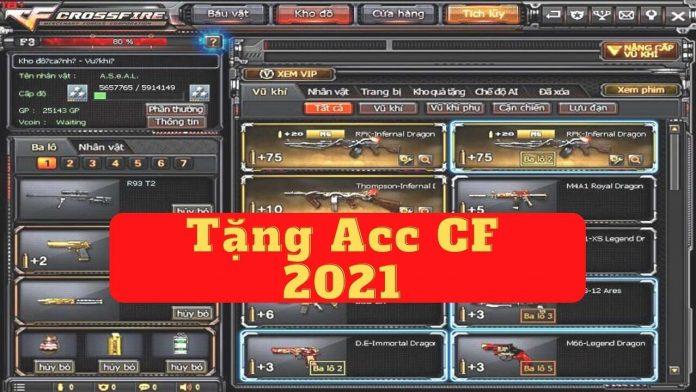 Tặng acc CF 2021